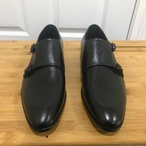 NIB HUGO BOSS Black Dressapp Monk Shoes sz 9.5